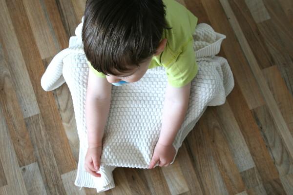 Babydecke aus biologischer Baumwolle von Sonnenstrick