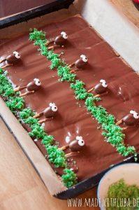 Schokoladentafel Schäfchen Verzierung