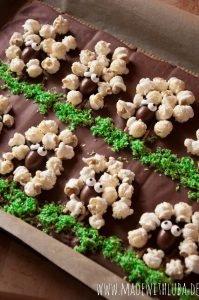 Schokoladentafel Schäfchen Popcorn