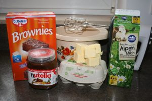 Zutaten Brownies geschummelt