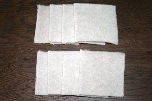 Waschbare Wattepads aus Bio Baumwolle
