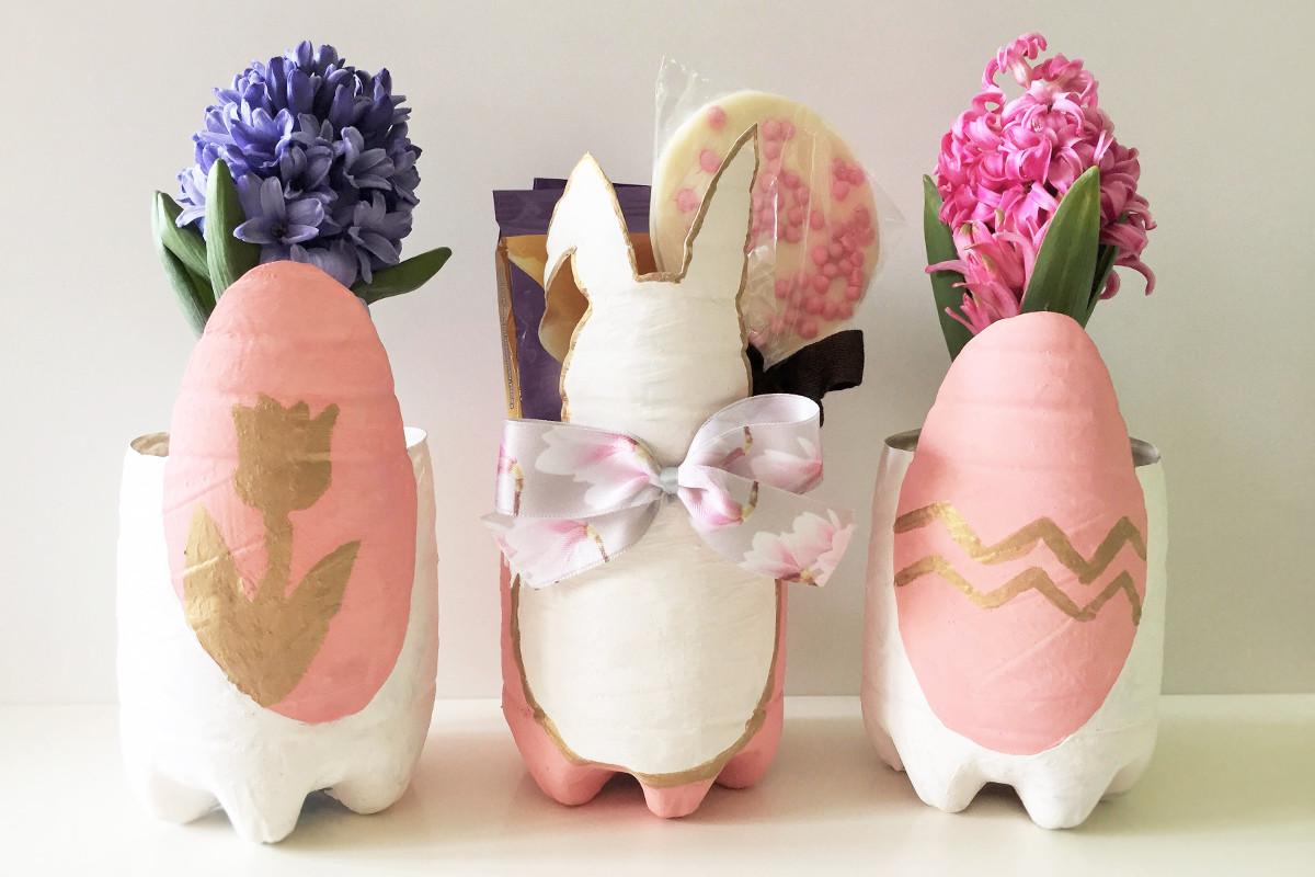 Gastbeitrag von DIYdekoideen: Osterkörbchen aus PET-Flaschen| Vivabini