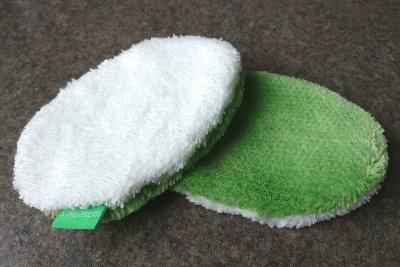 Waschies Baby Waschlappen grün weiß Mikrofaser