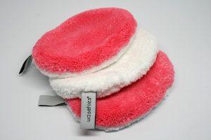 Waschies Baby Kinder Waschlappen pink weiß mit Laschen