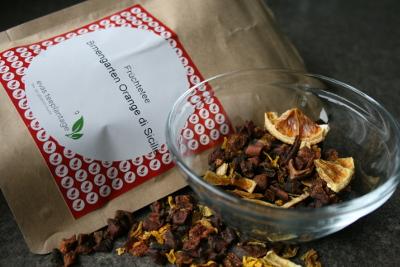 Eistee Rezepte mit Evas Teeplantage: Birnengarten Orange di Sicilia