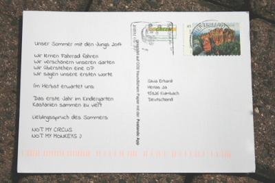 Individuelle Postkarten selbst gestalten mit Postando App