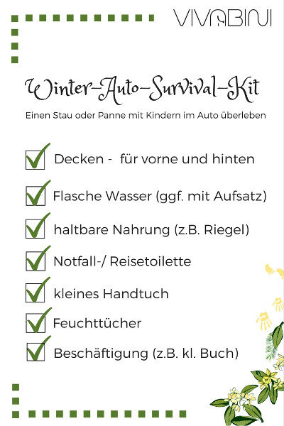 Checkliste Winter Auto Survival Kit