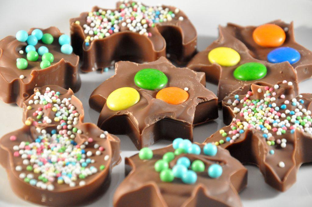 übrig gebliebene schokolade