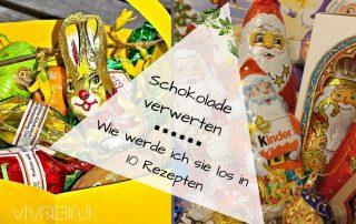 Schokolade verwerten Schoko-Weihnachtsmann Schoko-Hasen