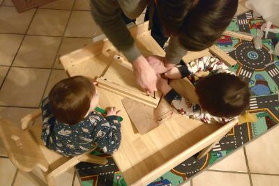 MesaSilla Sitzgruppe Aufbau