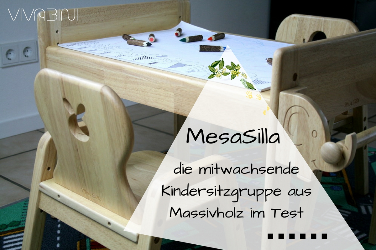 Die mitwachsende Kindersitzgruppe von MesaSilla: massives Holz, liebevolles Design (mit Rabattcode)