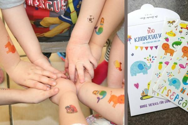 Kindertattoos von Oh Bracelet Berlin für Kindergeburtstag