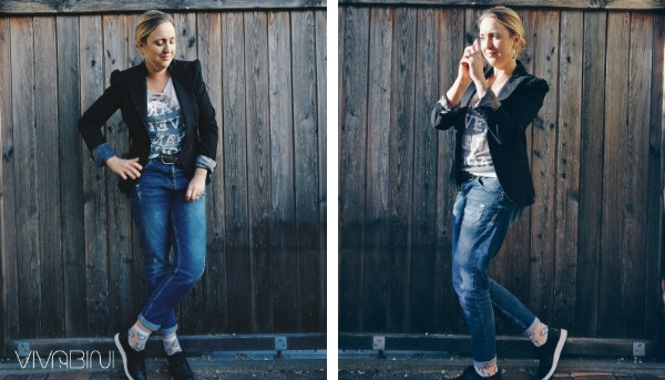 Blazer Outfit mit Jeans