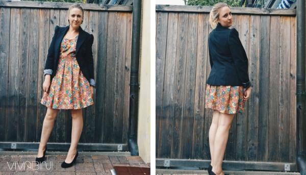 Blazer zum Kleid Outfit chic
