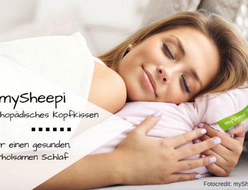 Besser schlafen mit dem orthopädischen Kopfkissen von mySheepi (mit Rabattcode!)