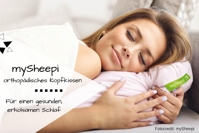 mySheepi orthopädisches Kopfkissen sorgt für gesunden Schlaf