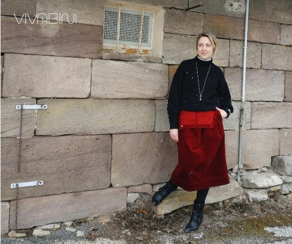Latzkleid wie kombinieren-Beispiel Pullover