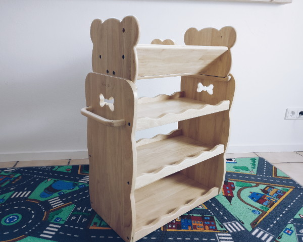 MesaSilla Spielzeugregal mit ergänzendem Bücherregal