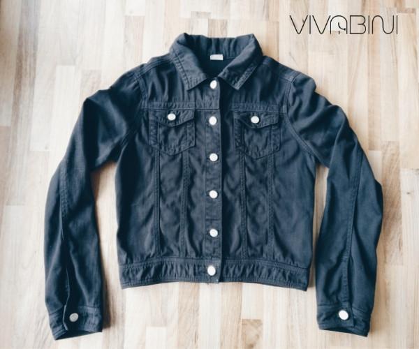 Jeansjacke schwarz färben