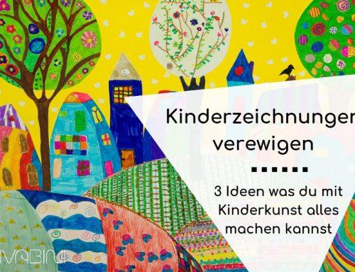 Kinderzeichnungen verewigen: Drei pfiffige Ideen für Kinderkunst