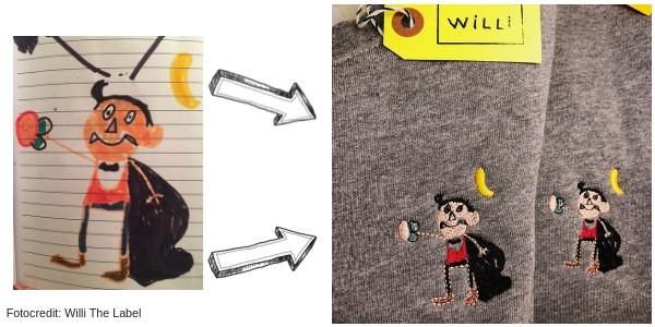 Pullover mit Kinderzeichnung Willi The Label