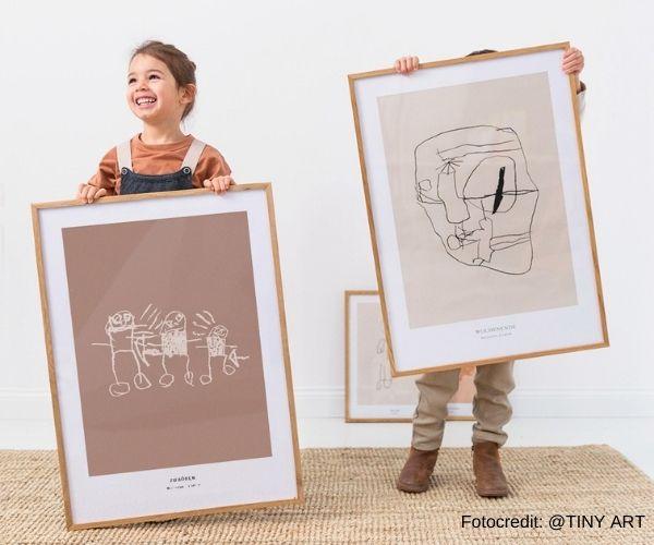 Kunstprint aus Kinderzeichnung