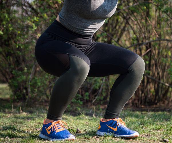 Squats gute Übung zur Rektusdiastase Rückbildung