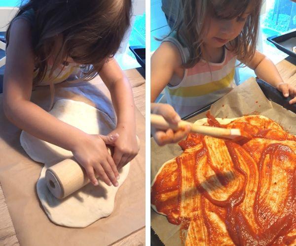 Pizza selber machen mit Kindern