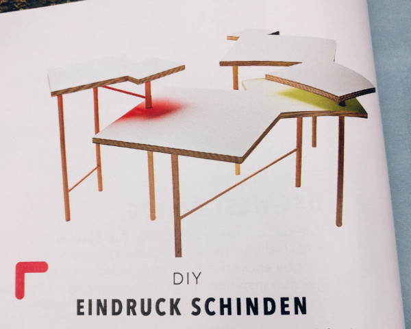 Tisch aus der Hornbach Werkstück Edition