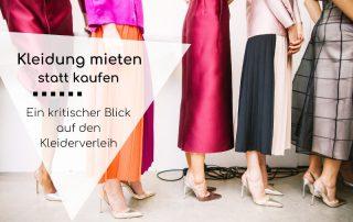 Titelbild Kritischer Blick auf Kleiderverleih