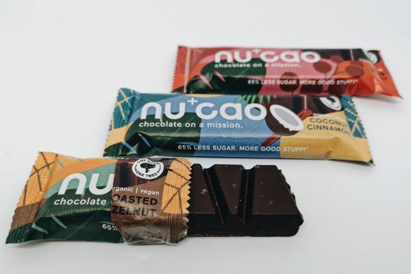 Sorten von NuCao vegane Schokolade