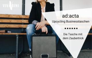 Vorstellung ad:acta upcycling businesstaschen