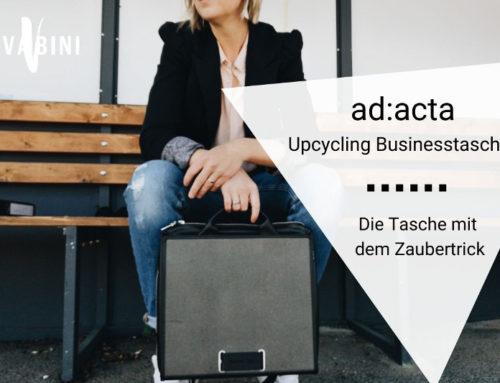 ad:acta – Upcycling Businesstasche für Individualisten und Systemuntergräber