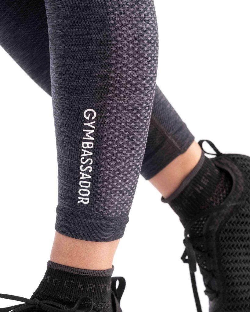 Nachhaltige Sportbekleidung - Gymbassador Sport-LEGGINGS 3 pro Bund