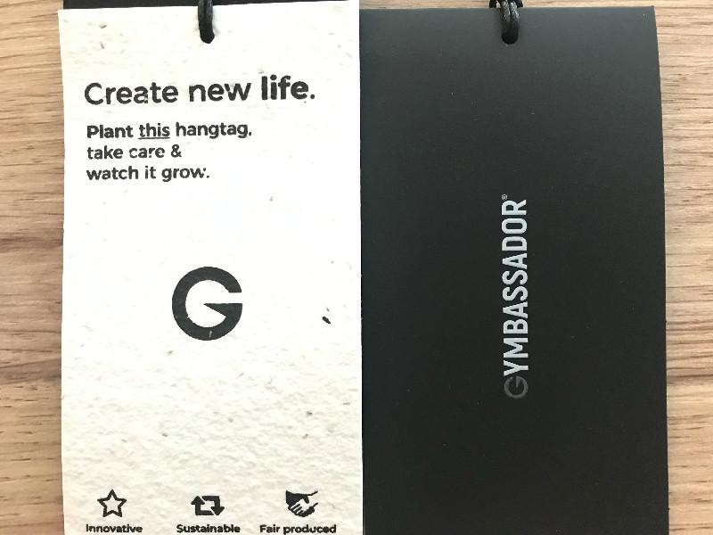 Gymbassador nachhaltige Produktetieketten - Etikett pflanzen, neues Leben züchten