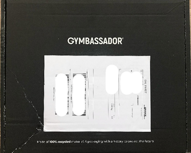 Nachhaltige Verpackung Gymbassador