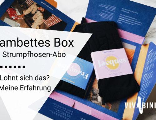 Fashion-Strumpfhosen im Abo? Meine Erfahrungen mit der Gambettes Box