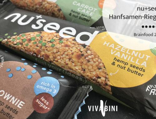 Brainfood 2go: nuseed Hanfsamen-Riegel!