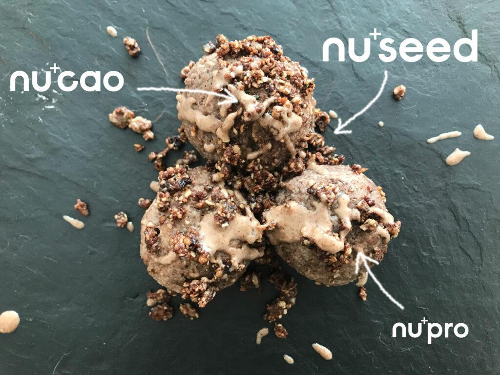 Topfenknödel-Rezept mit nuseed, nupro und nucao