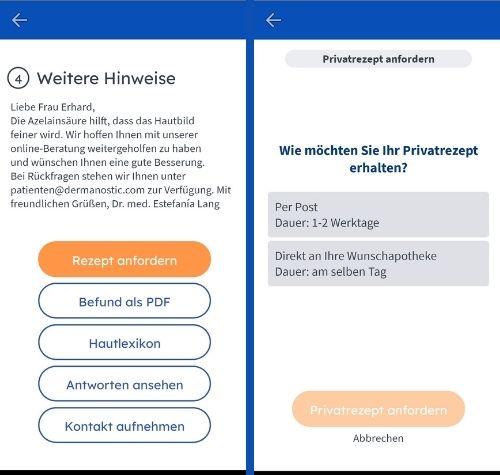 Dermanostic App Rezept holen