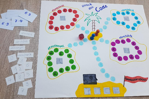 Aufbau Lernspiel Knack den Code
